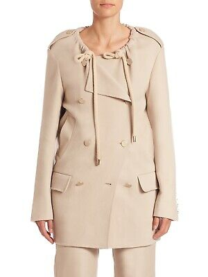MAX MARA HAND Made In Italy Beige 100% Cashmere Coat UK 8   IT 40 ... c44338be6bb