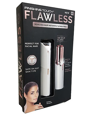Flawless Finishing Touch Facial Hair Remover Epilator Hair Trimmer 18k Gold UK2