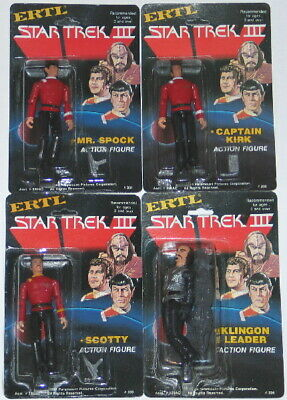 "Star Trek III: The Search for Spock Movie 1984 ERTL 4"" Action Figure Set of 4"