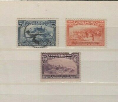 3 Old Canada Quebec Centenary issues with damage