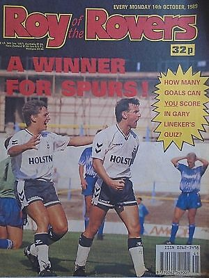 Roy of the Rovers 14/10/89 old football all usual storys + arsenal, star signs