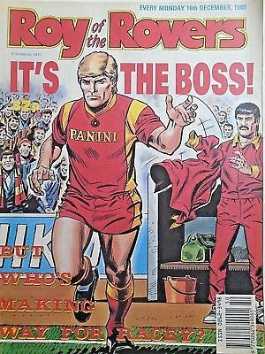Roy of the Rovers 16/12/89 old football all usual storys + arsenal, celtic etc