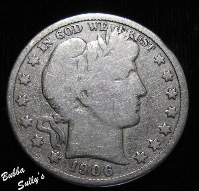 1906 D Barber Half Dollar <> VERY GOOD
