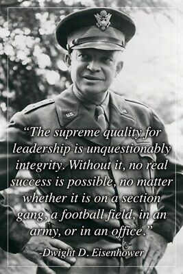 inspirational leadership quote poster PRESIDENT DWIGHT D. EISENHOWER 24X36