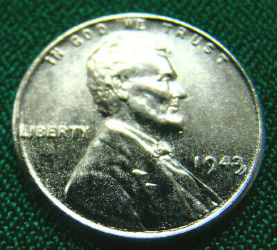1943 Steel Lincoln Wheat Cent / Double Date Obv. Strike Error / BU / Ships Free