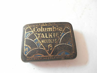 Vintage Columbia Talkie Needles Tin Plus 98 Coppertone Needles