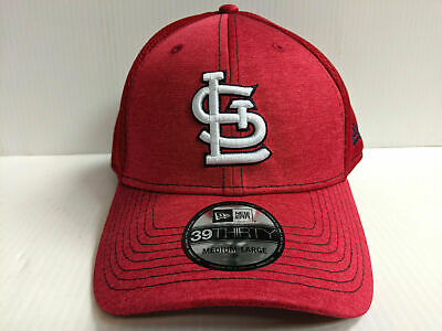 outlet store 46c07 956b0 St. Louis Cardinals Cap New Era 39Thirty Stretch Fit Mesh Classic Shade Neo  Hat