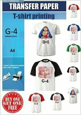 G-4 T Shirt Transfer Paper Iron On A4 X 50 Buy 1 Get 1 FREE