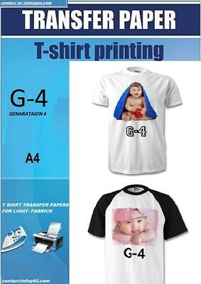 PPD A4 T Shirt Transfer Paper X 60 Sheets Only £32 Free P&P