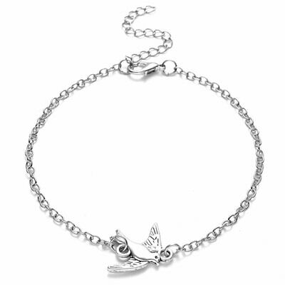 Fashion Animal Fly Bird Silver Lady Women Bangle Bracelets Chain Jewelry Party