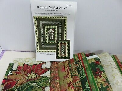 "Poinsettia Panel Quilt Top Kit- 47"" x 66"""