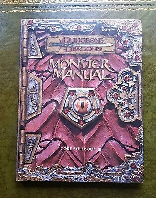Monster Manual - Phb 3Rd Ed Rpg Dungeons & Dragons Dnd D&d Roleplaying