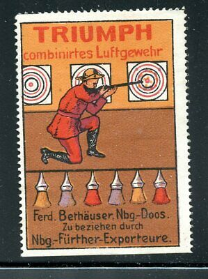 Poster Stamp ~1913 Germany Automobile Adventure USA NG
