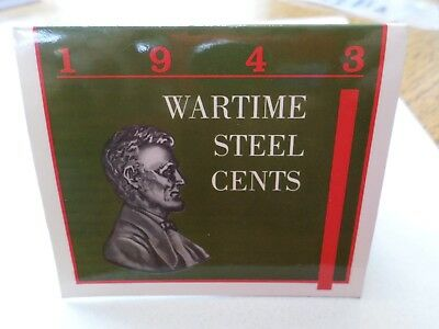 1943 Lincoln Steel Wheat Cent Year Set--Littleton Folder