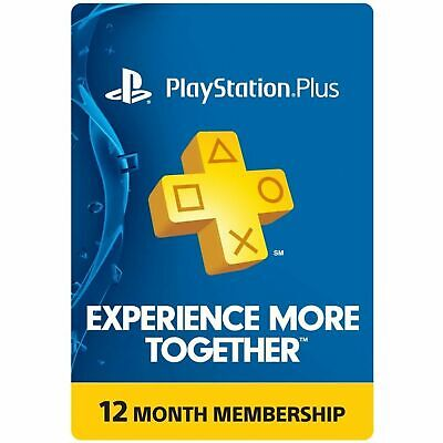 PlayStation Plus 12 Month 365 Day PSN Membership PS3 PS4 PS Vita USA NO CODE !!!
