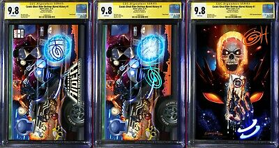 Cosmic Ghost Rider Destroys Marvel History # 1 CGC 9.8 SS 3-Set Signed Greg Horn