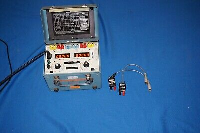 Dranetz 325 Power System Poly Meter Voltage Current Time w Cables