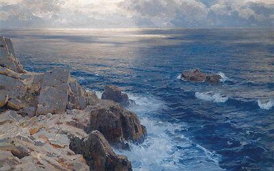 Hd Print Seascape sea Oil painting Art Giclee Printed on canvas P570