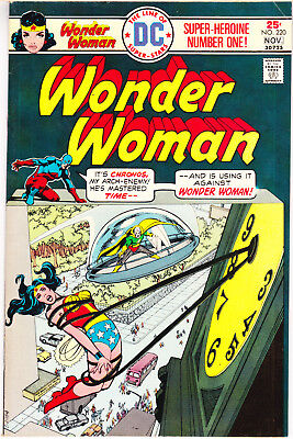 Wonder Woman 220 VF (8.0) Neal Adams The Atom Amazon Comic Books 1975 DC Comics