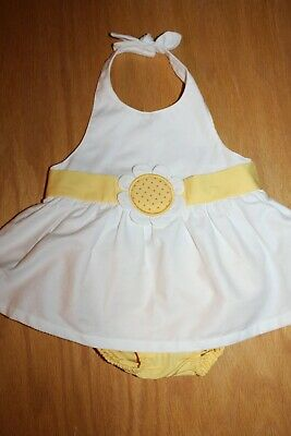 Gymboree NWT 2-pc Yellow DAISY GIRAFFE HALTER REAR BOW FLOWER PARTY DRESS 0 3 M