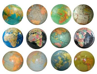 Vintage Old World Globe Drawer Knobs- Atlas Maps Den Study Cabinets Dresser