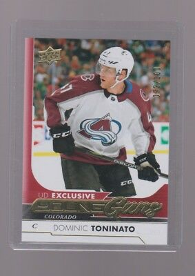 2017-18 Upper Deck  Young Guns Rookie  Exclusive  Dominic  Toninato 092/100