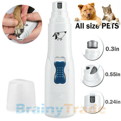 Electric Dog Cat Nail Grinder Trimmer Grooming Tool Clipper For all size PET