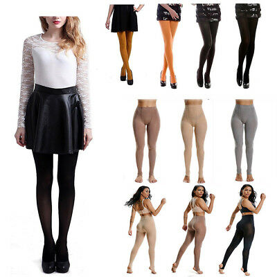 9e31a7bf2c4 Women Solid Opaque Pantyhose Stockings Tights Footless Plus Size Autumn  Winter