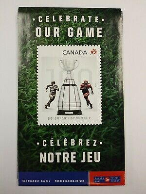 CFL football 100th Grey Cup poster Canada Post
