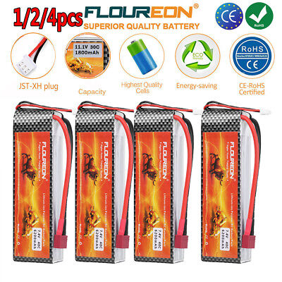 1/4x 2S2P 6200mAh 7.4V 40C with T Plug LiPo Battery Pack for RC Evader BX Car AU
