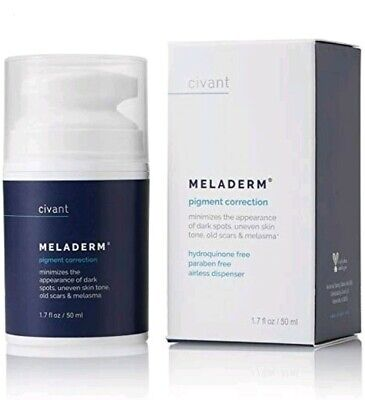 Meladerm – Skin Whitening cream 1.7oz (50ml) BRAND NEW + microdermabraison cloth