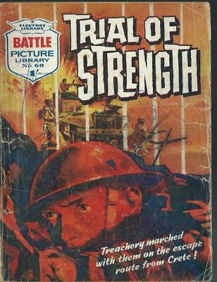 Trail Of Strength,battle Picture Library,no.60,war Comic,1962