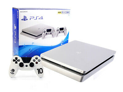 Sony PS4 Konsole - SLIM 500GB - SILBER + NEUER Subsonic Wired Controller