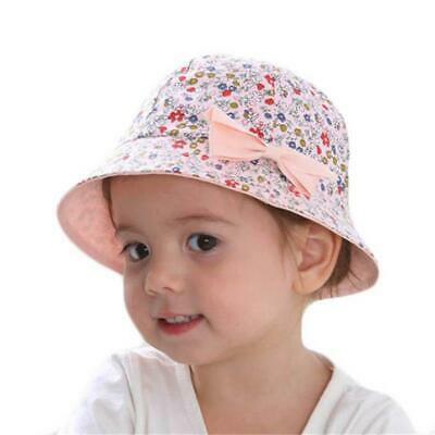 e0451385ce4 Baby Sun Caps Infant Bowknot Flower Hat Bucket Newborn Kids Girls Summer Cap  FW