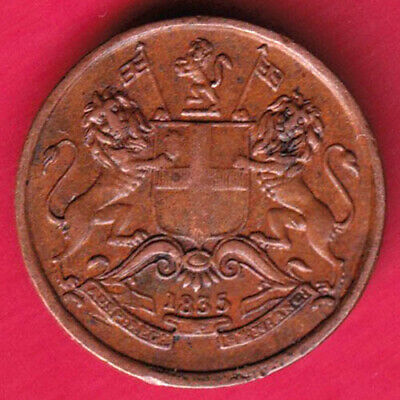 British India - 1835 - East India Company - 1/12 Anna - Rare Coin #k17