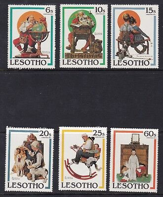 Lesotho 1981 Christmas Paintings Set Mnh