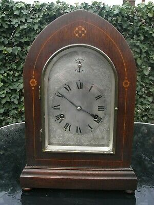 Beautiful Edwardian 3/4 Westminster Chiming Mantle Clock with Silvered Dial