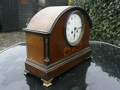 Edwardian Chiming Mantle Clock with Lovely Inlay