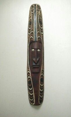 Vintage antique Wooden mask Tribal Hand Carved Papua New Guinea