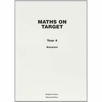 Maths on Target: Answers Year 4 - Paperback NEW Stephen Pearce 2008-06-20
