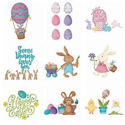Happy Easter Egg Bunny Metal Cutting Dies Stencils Scrapbooking Embossing 2019