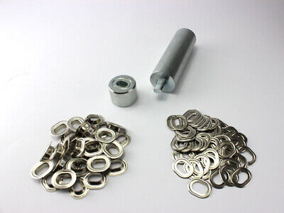 Ovale Oeillets Kit Poinçon 17 X 11 mm + 100 Œillets Ovales Laiton Nickel
