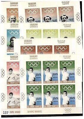 ++ 6X Sharjah - Mnh - Imperf - Olympic