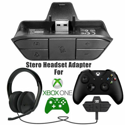 Game Controller Stereo Headset Adapter Audio Headphone Converter For Xbox One US