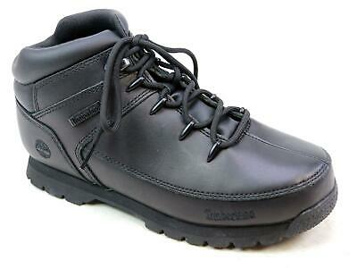 KIDS YOUTH TIMBERLAND Euro Sprint Black Mono Leather Outdoor