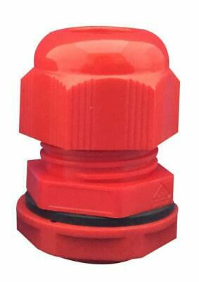 Nylon Cable Gland, M16, Red (Pack of 10) - CONCORDIA TECHNOLOGIES