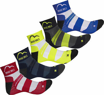 More Mile Mens Womens 5 Pack Cushioned Running Socks Anti-Blister Sports Sock