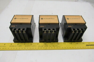 Allen Bradley 154-A11NB Ser A 3Ph 480VAC 7.5Hp Smart Motor Controller Lot Of 3