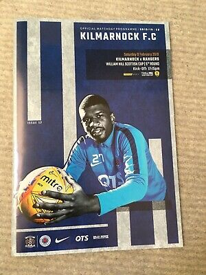 Kilmarnock V Rangers   Matchday  Programme William Hill   Scottish Cup Round 5