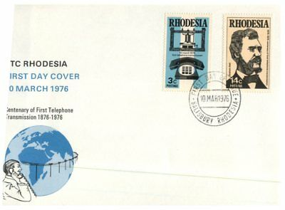 (C 44) Rhodesia  FDC cover - 1976 - Centenary of Telephone